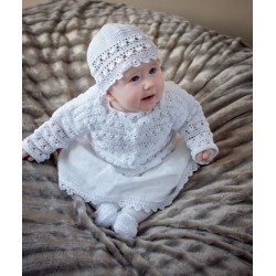 White Handmade Christening/Special Occasion Outfit for Baby Girl Style SOPHIE