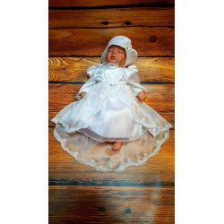 Beautiful White Christening/Baptise/Special Occasion Dress with Bonnet Style EMMA