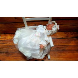 Ivory Baby Girl Christening Dress with Bonnet Style ANABEL