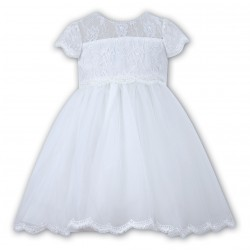 Lovely Communion/ Ceremonial Ballerina Length Dress by Sarah Louise style 070060x