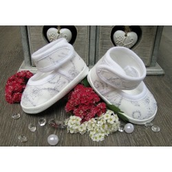 White Christening/Baptism Shoes Style BALLERINA LACE NOVA