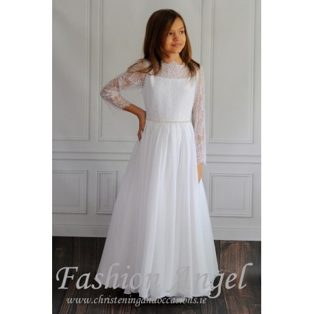 Lovely Lace First Holy Communion Dress Style AGGIE