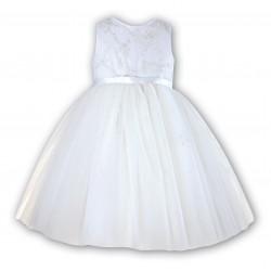 Sarah Louise Ivory Ballerina Length Flower Girl Dress Style 070035-2