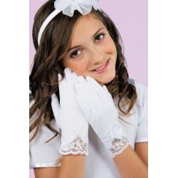 Lace Commnunion Gloves K-82