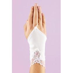 White Communion Gloves K-35