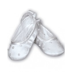 Sarah Louise White Christening Baby Girl Shoes Style 004400