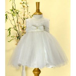 Ivory Christening/ Flower Girl/Special Occasions Tulle Dress with Sequinned Sash Cindy by Sevva