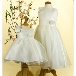 Sevva Baby Girl Christening Dress and Headband in Ivory Style PC8781B