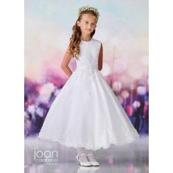Joan Calabrese White Tea-Length First Holy Communion Dress Style 119377