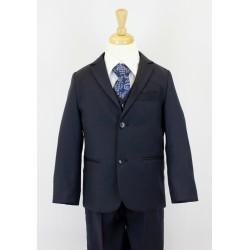 Boys Navy Blue 5 Piece Communion Suit Style 513