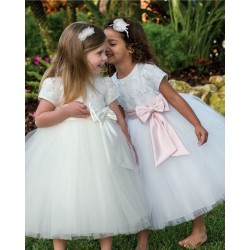 Beautiful Ivory Flower Girl Dress from Sarah Louise 070034