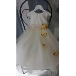Amazing Ivory/ Champagne Flower Girl/Special Occasion Dress by Sevva style D1236