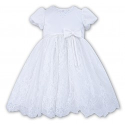 Sarah Louise Christening/Special Occasions White Lace Dress Style 070020-1