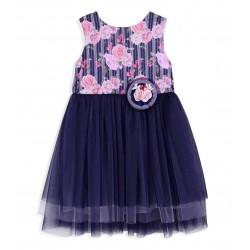 Dark Blue Flower Girls / Special Occasions Dress Style 4901